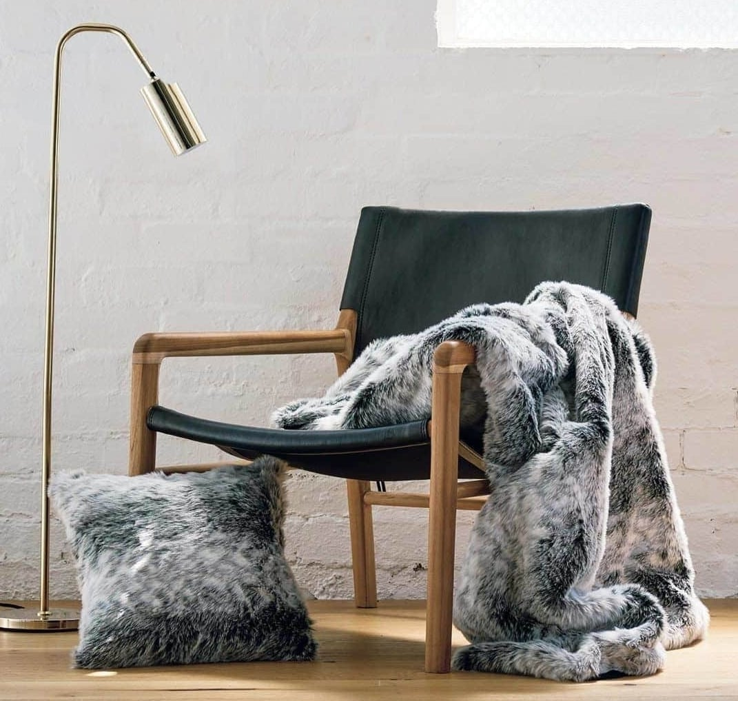 Chinchilla throws and cushions from Lorraine Lea