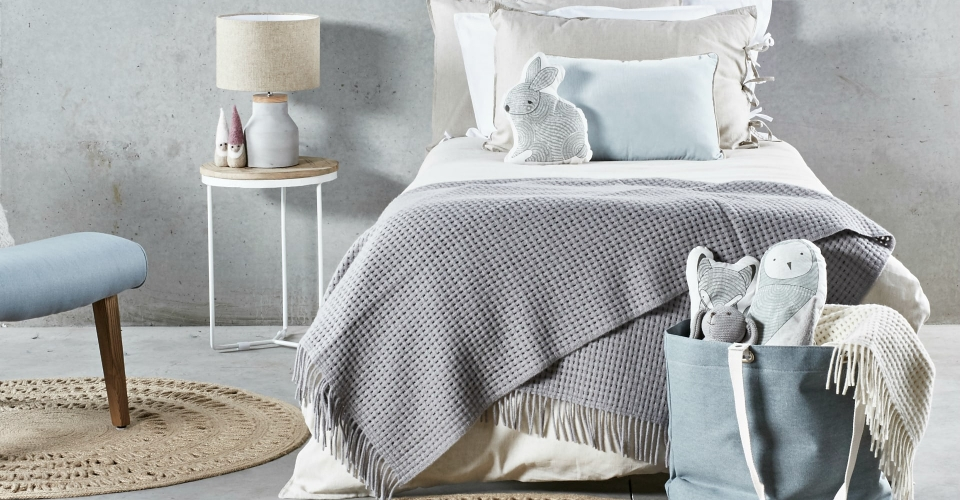 scandinavian kids bedroom styling with blue accents by tlc interiors
