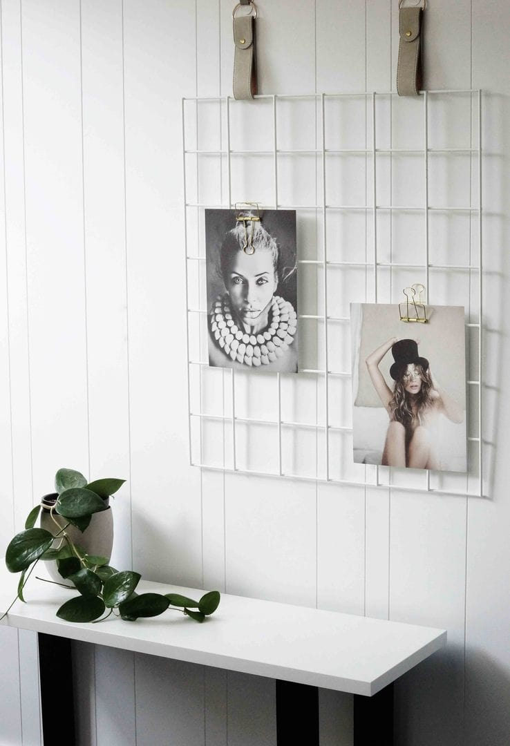 white grid mood board by h and g designs