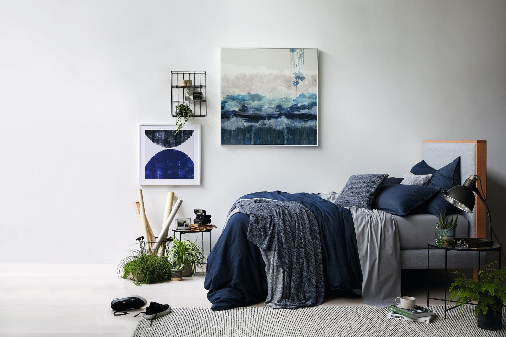 blue and grey bedroom ideas with sheridan bedding in navy blue and charcoal