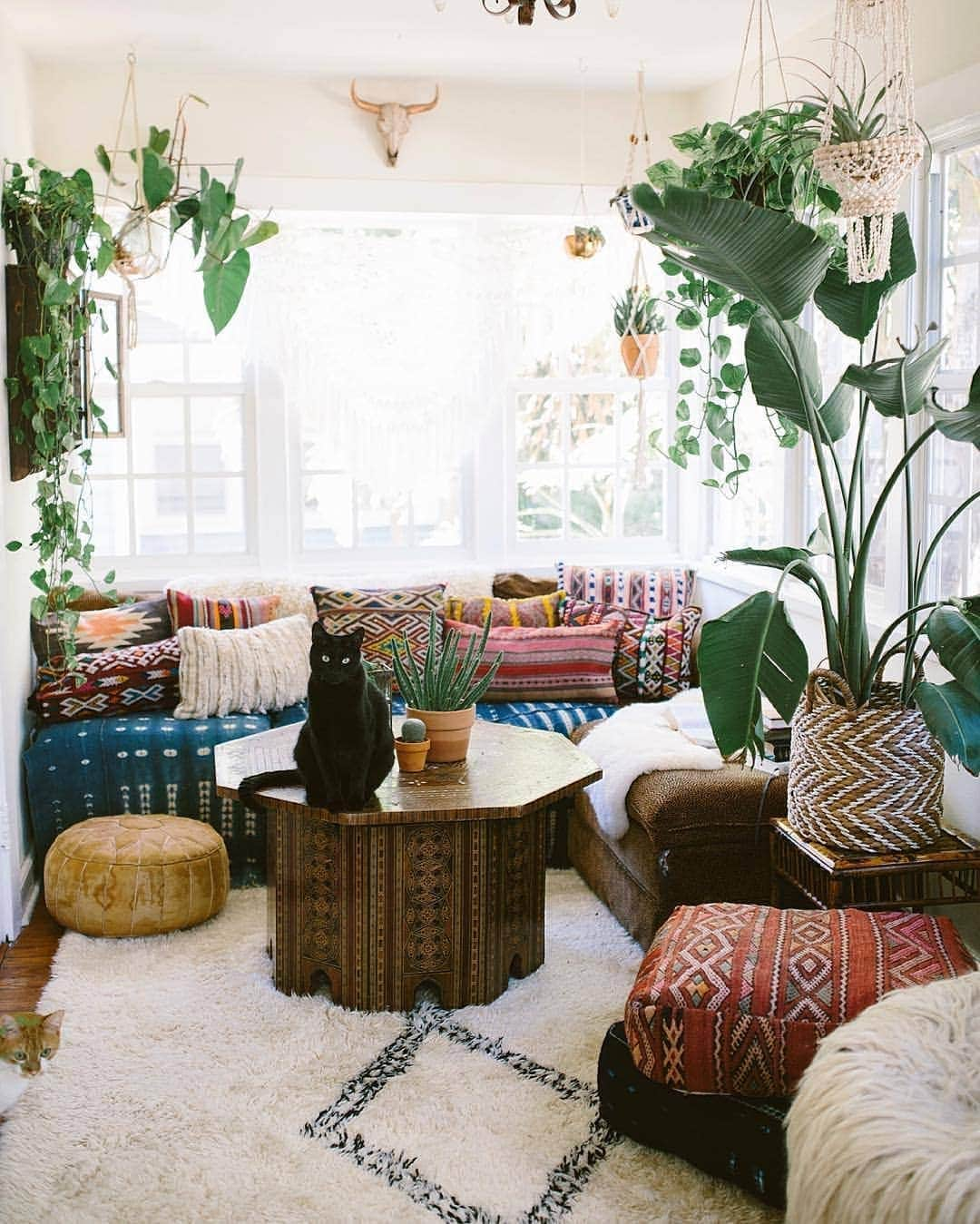 colourful bohemian living room ideas