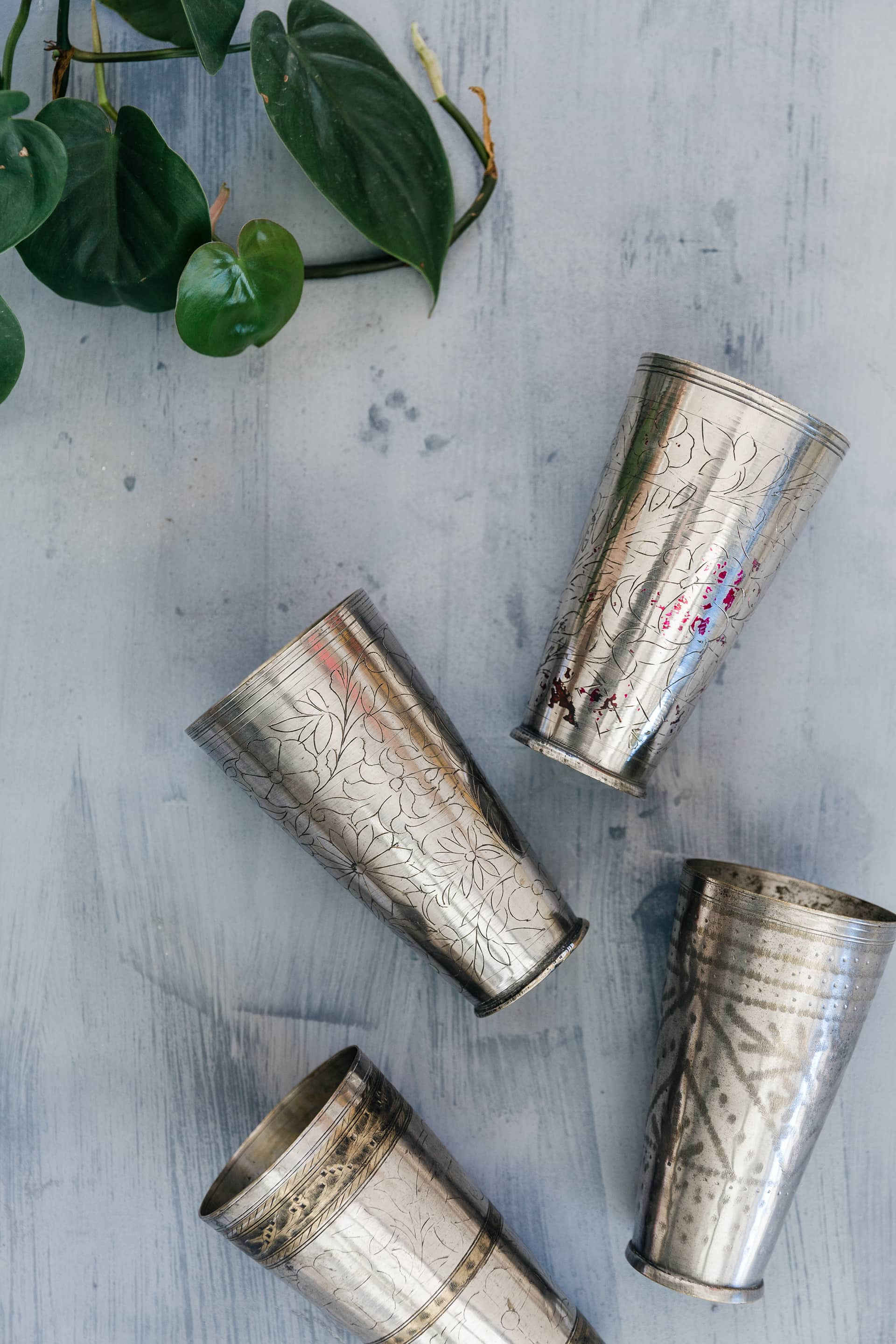 ornate brass vases from southbound