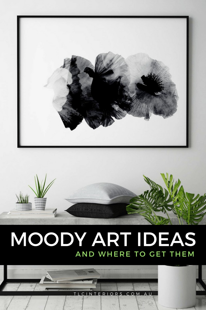 moody black and white abstract artwork from Arti Studio