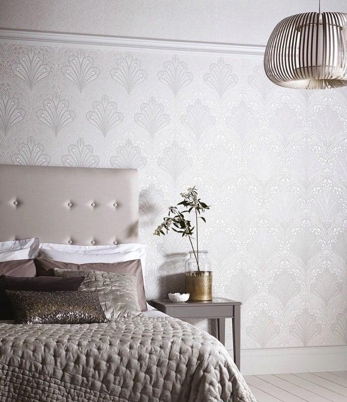 12 Neutral Wallpaper Design Ideas For Bare Walls Tlc Interiors