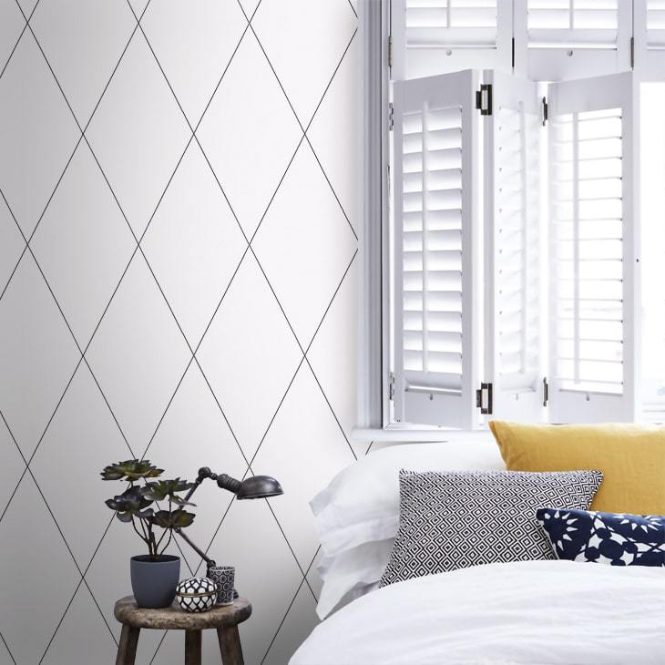 robin diamond black and white wallpaper ideas