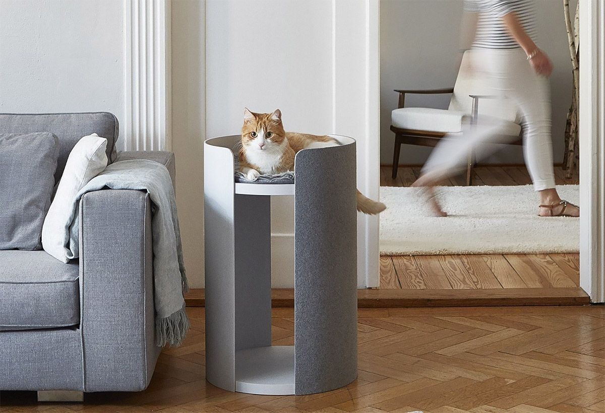 tuft and paw designer cat tree in living room