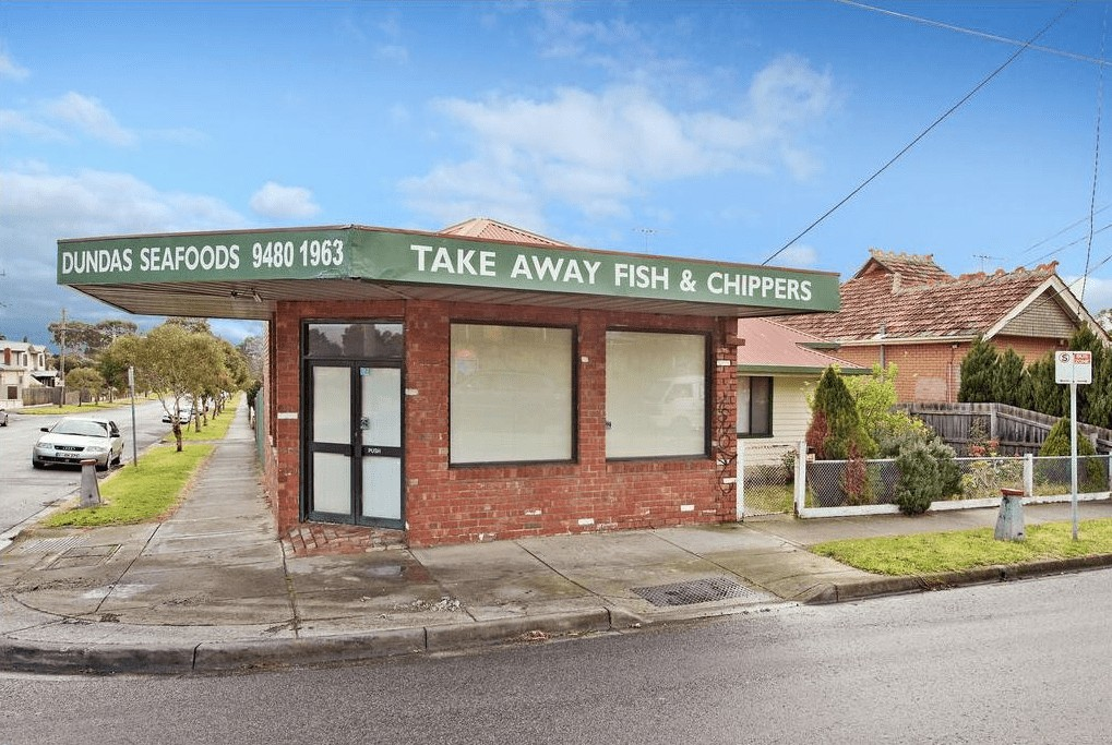 exterior photo of fish and chip shop on real estate website