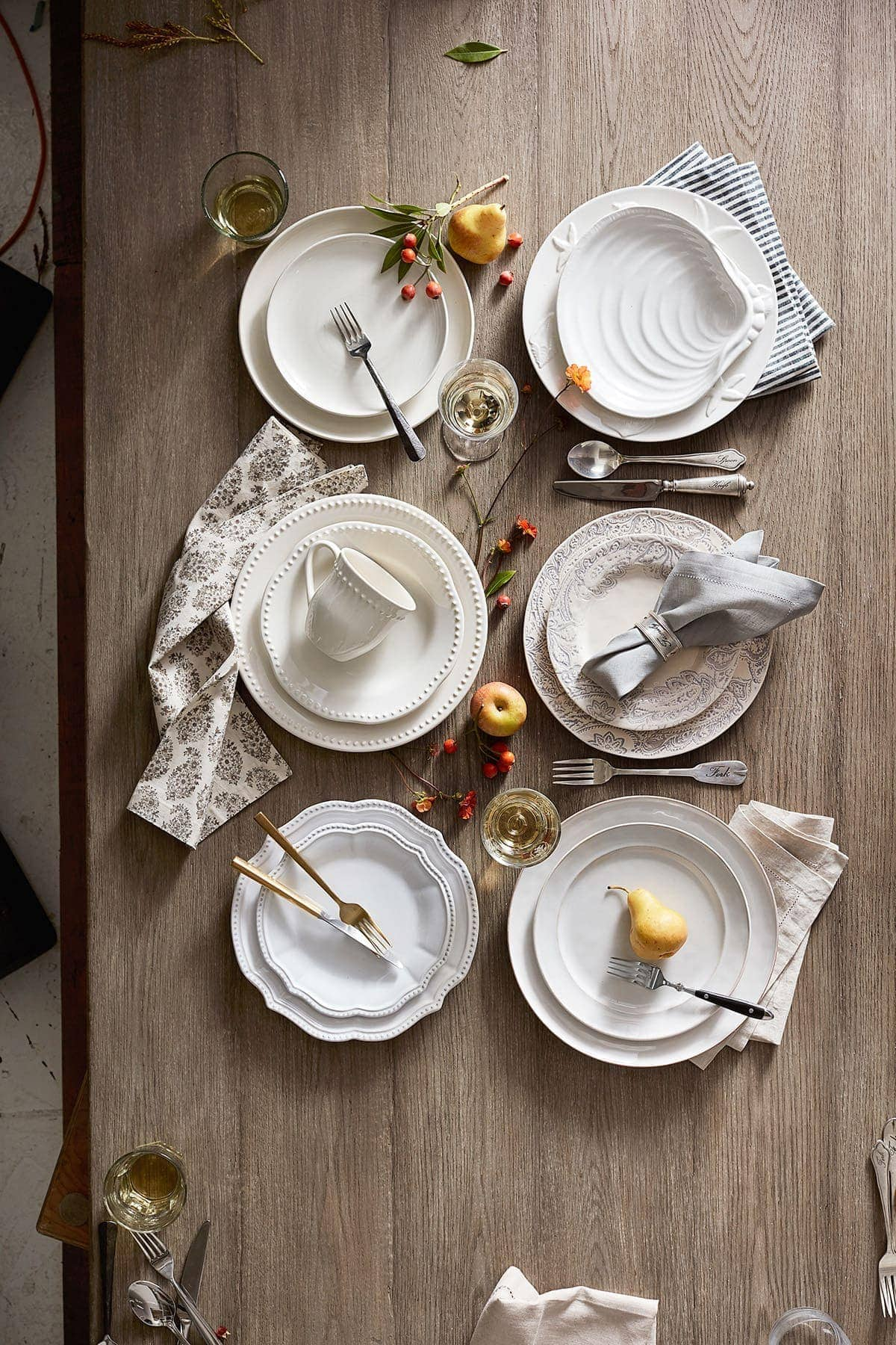 rustic french provincial table setting ideas from pottery barn