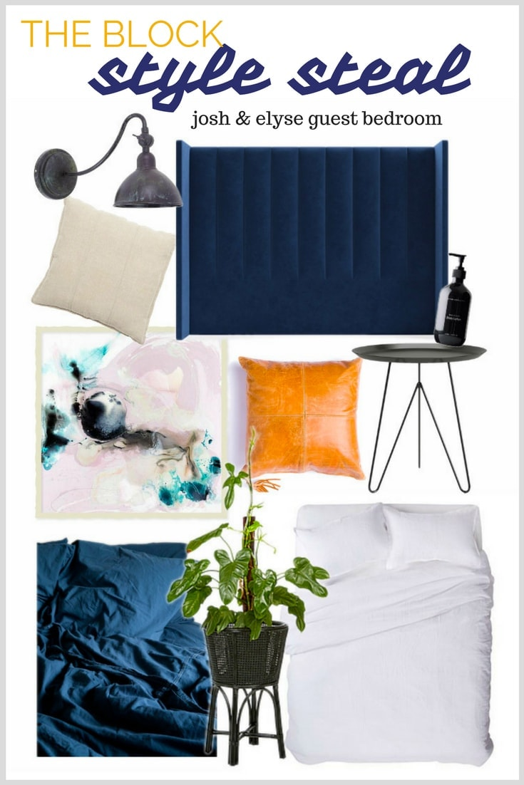 the block 2017 josh and elyse guest bedroom products