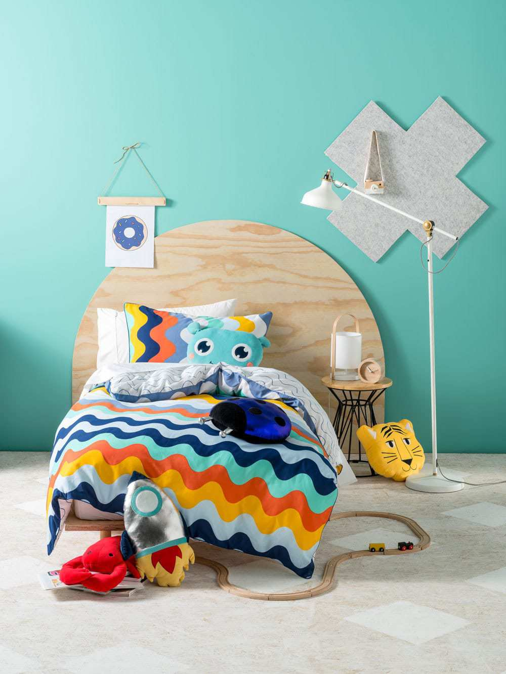 colourful kids striped bedding set from linen house