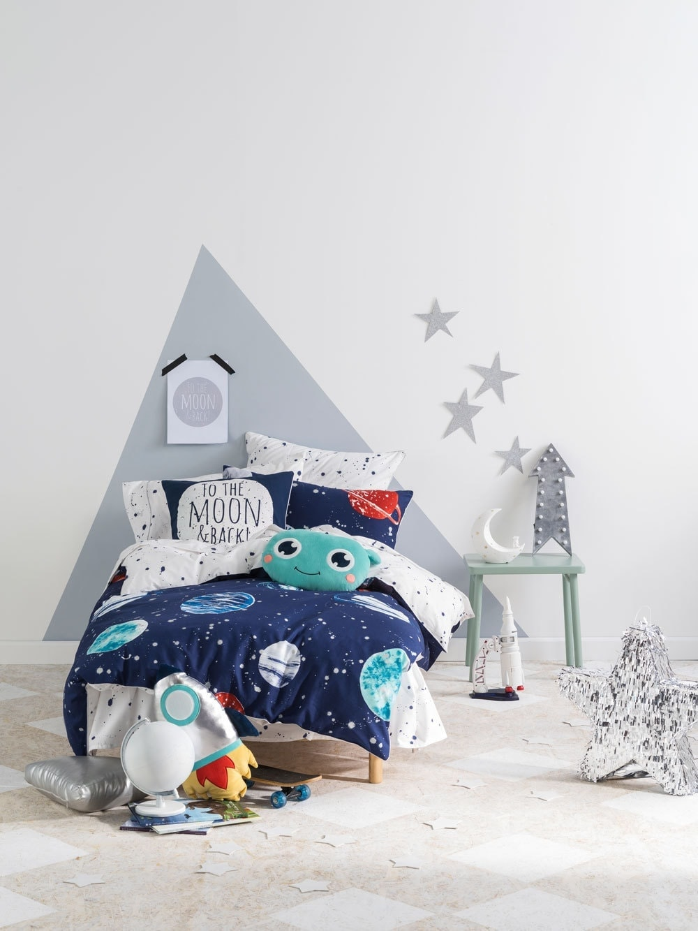 kids space ship bedding from linen house