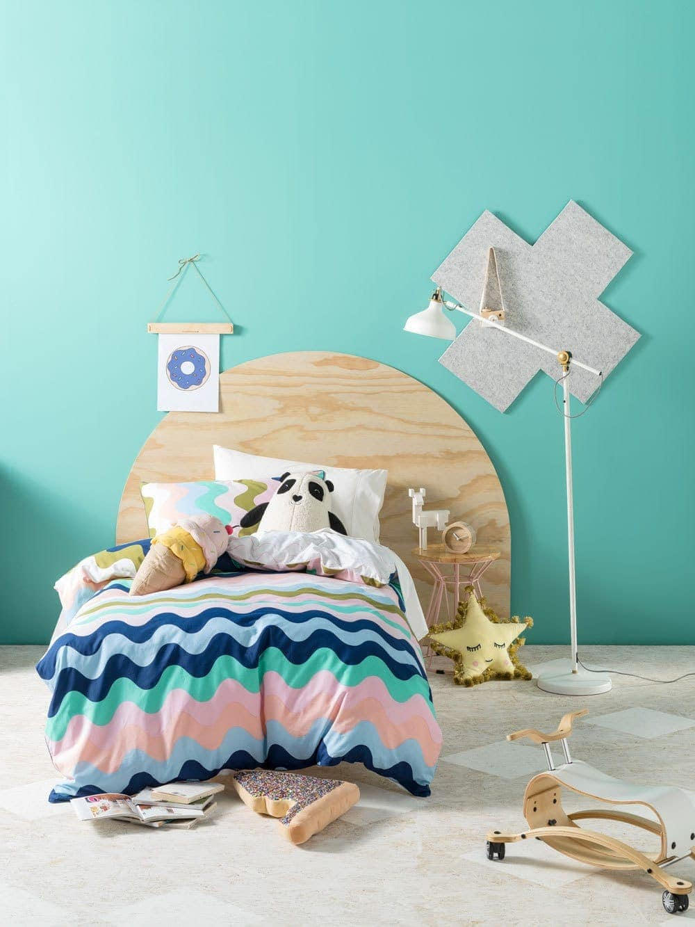 pastel striped kids bedding set from linen house