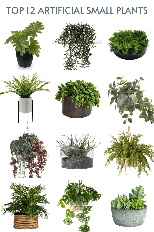 small fake plants in pots mood board australia