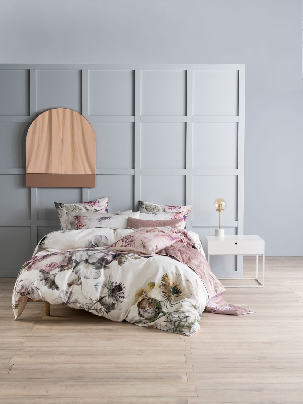 Soft Grey Bedroom Ideas With Bedding By Linen House