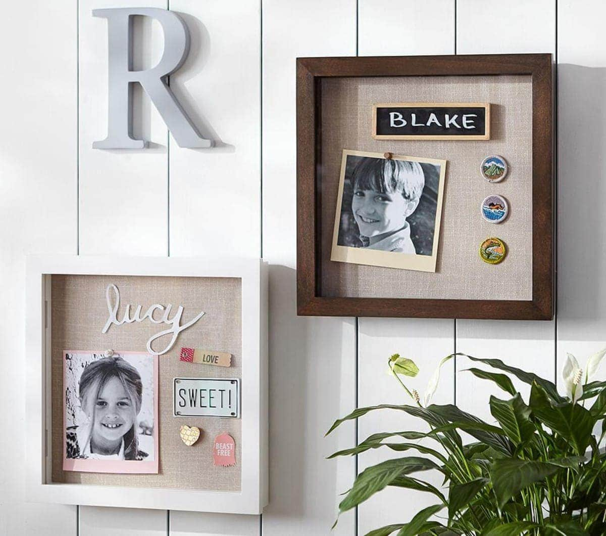 shadow box frame pottery barn kids