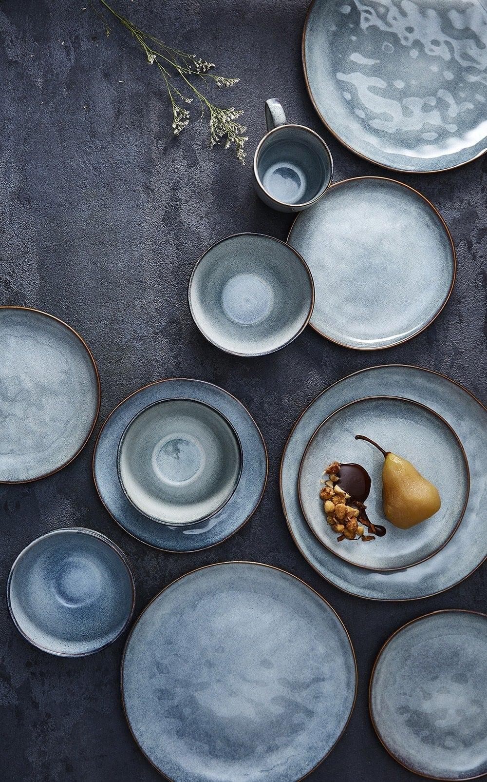 target homewares 2018 blue handmade dinnerware with gold trim