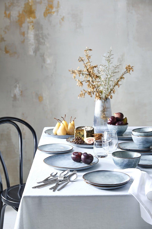 target homewares 2018 blue speckled handmade dinnerware on table