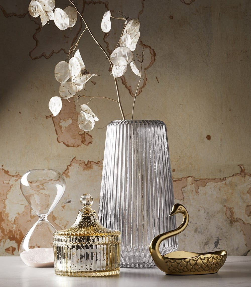 target homewares 2018 gold swan and glass candle holder