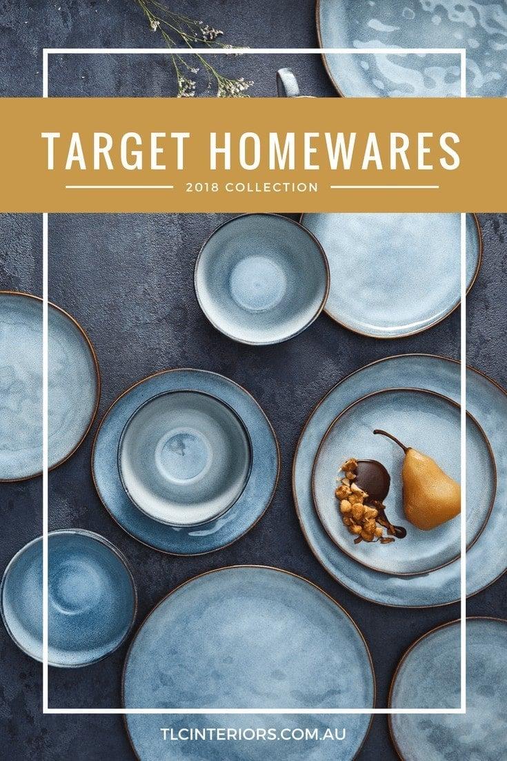 target homewares 2018 range target blue dinnerware with gold trim