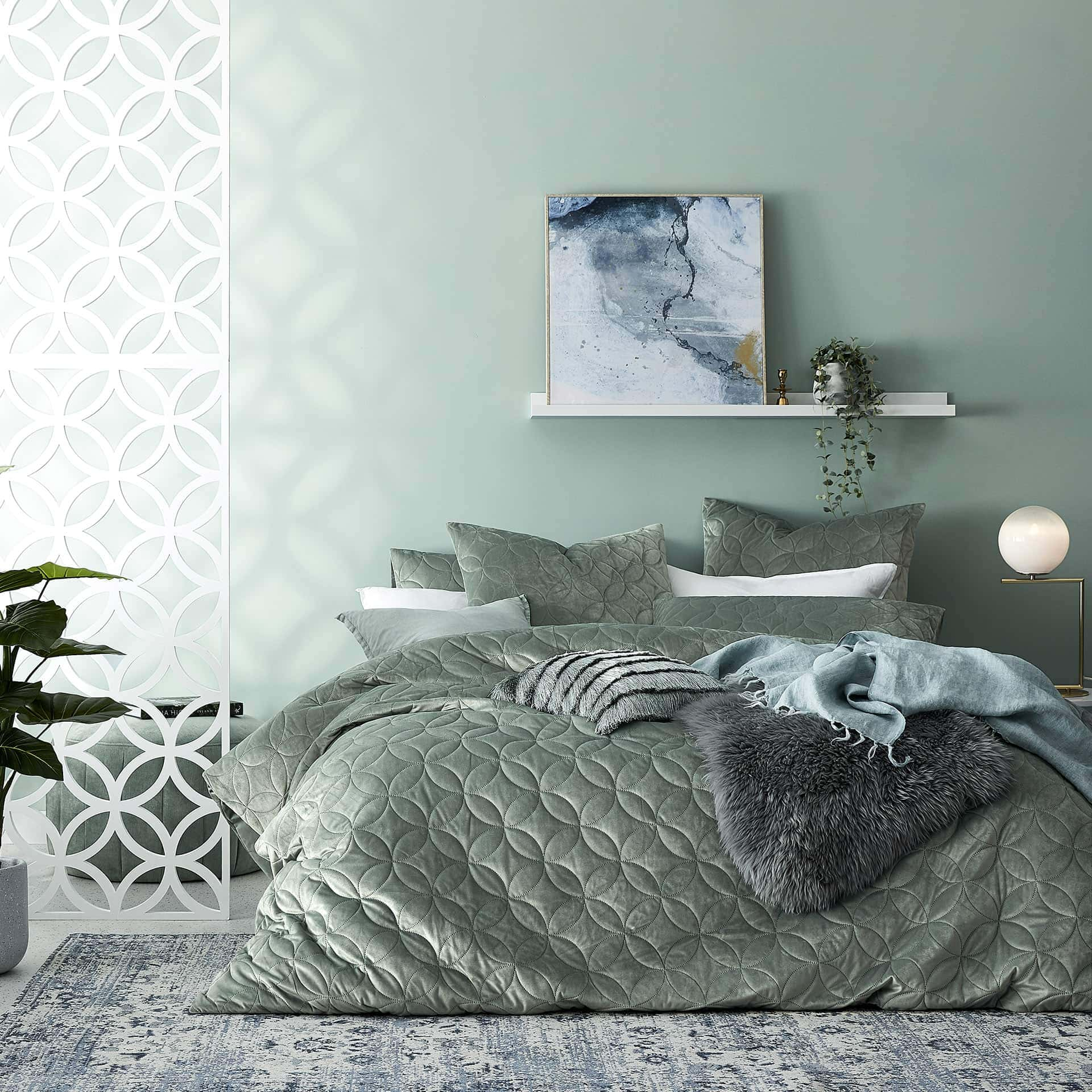 Home Republic Gigi Quilted Velvet Bedlinen from adairs springvale homemaker centre