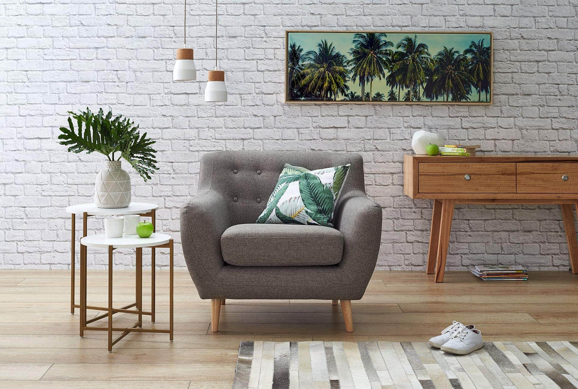 Poppy Armchair in Taupe from focus on furniture springvale homemaker centre