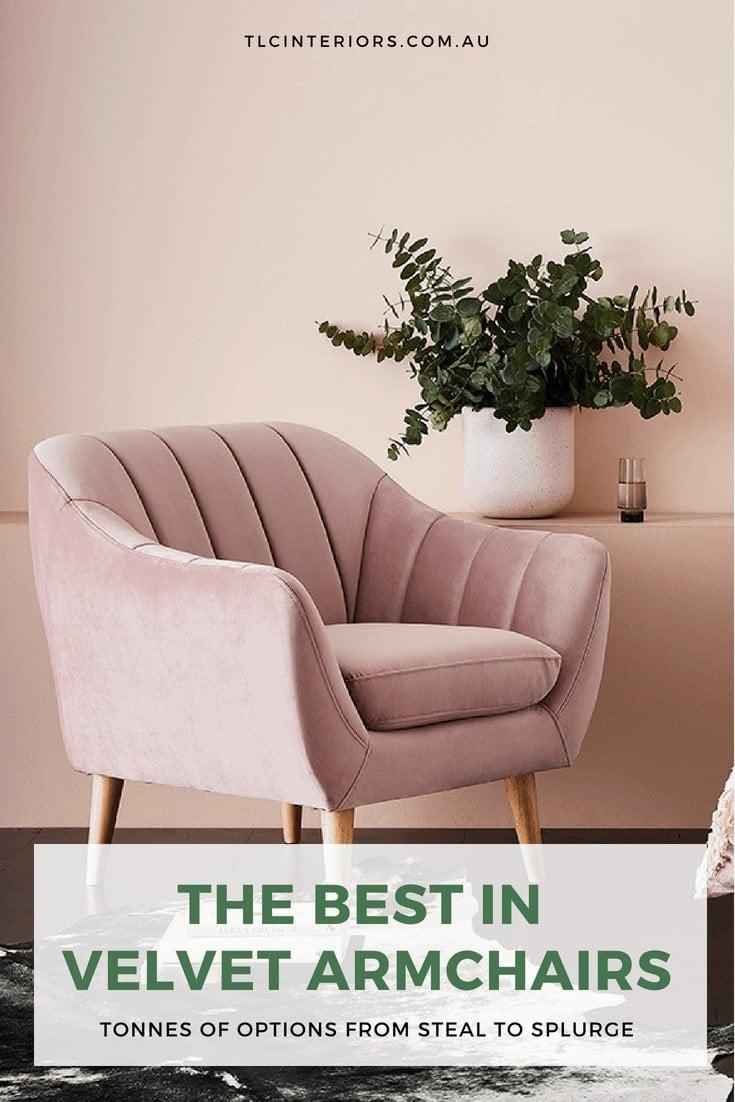 adairs pink velvet armchair where to buy velvet armchairs in australia