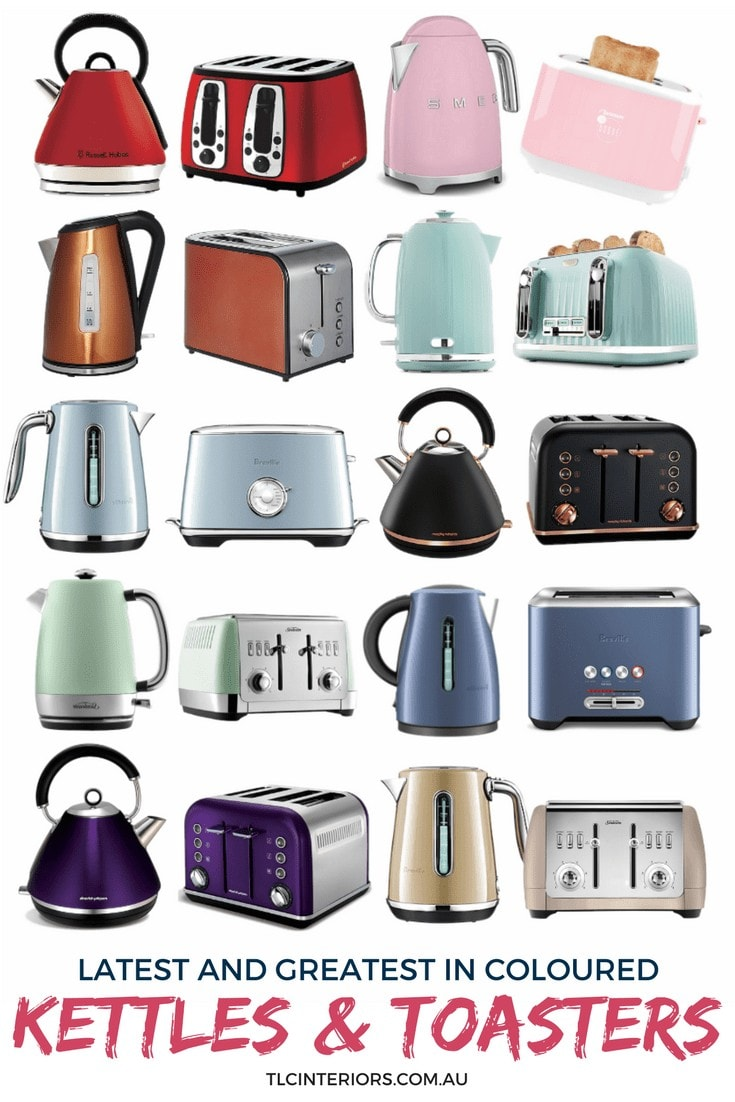 coloured kettles and toasters mood board on tlc interiors