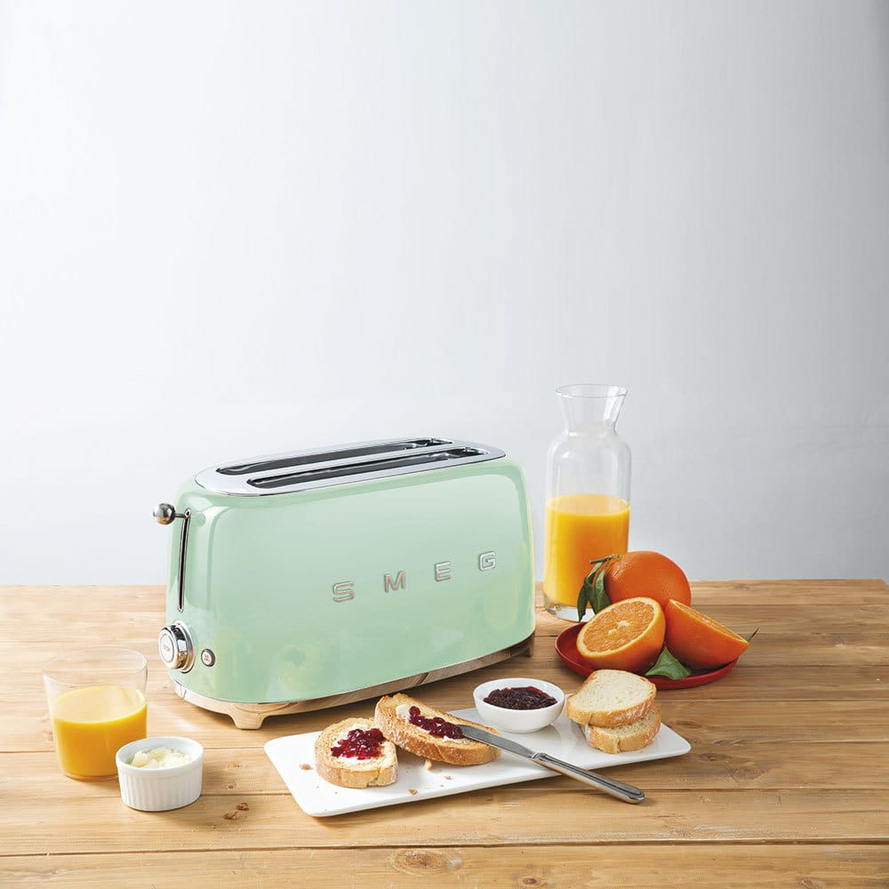 colourful kettles and toasters by smeg in mint green