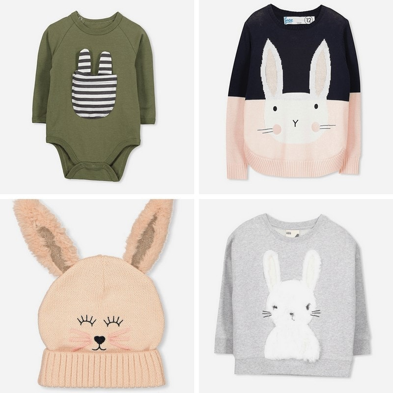 cotton on easter clothing rabbit jumpers