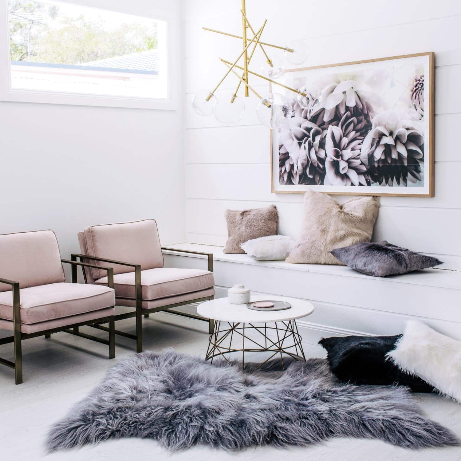 grey icelandic sheepskin fur throw hides of excellence