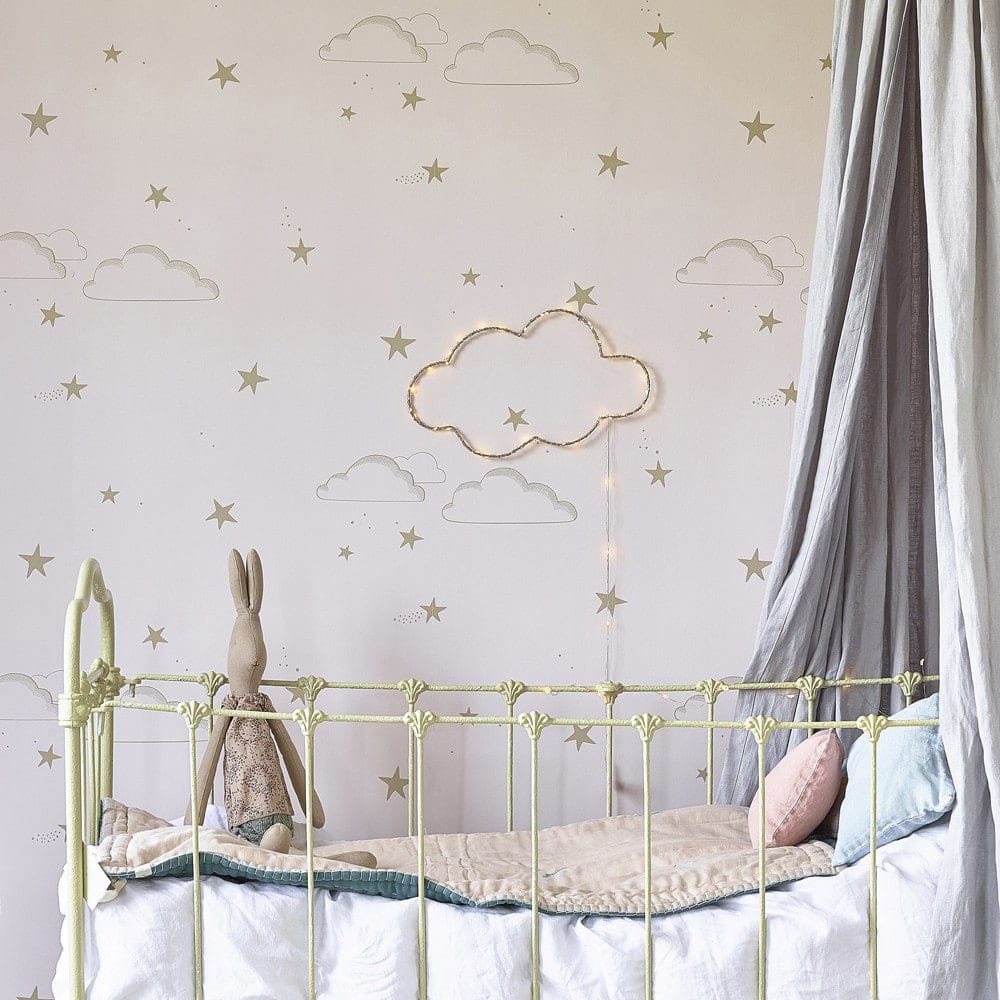 stary sky wallpaper ideas for kids rooms natty and polly