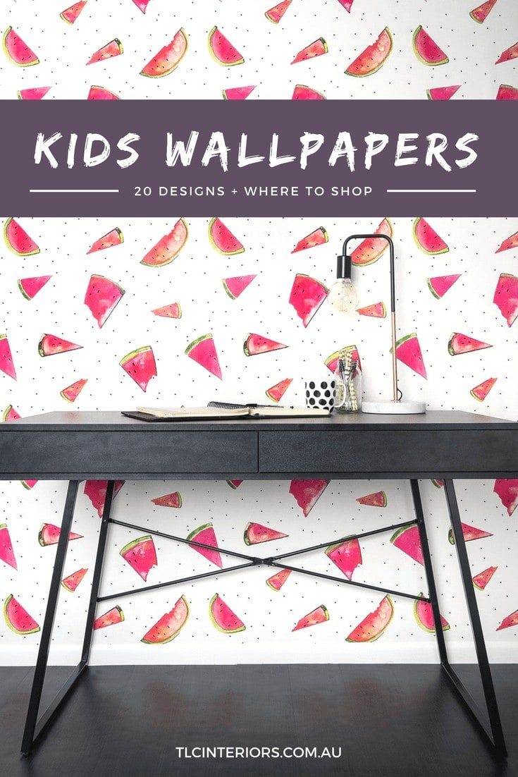 wallpaper ideas for kids rooms watermelon wallpaper design