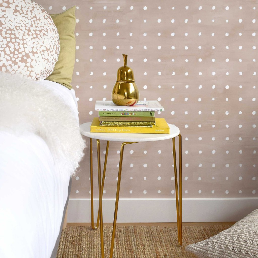 white and blush polka dot wallpaper ideas for kids rooms these walls