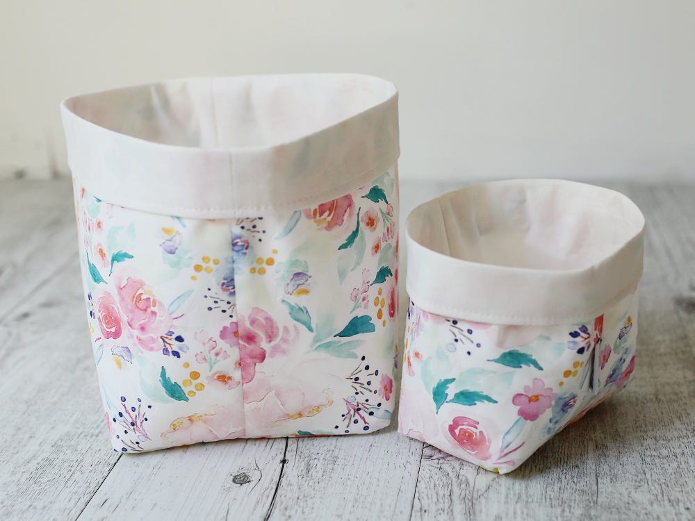 hello sweet mae watercolour floral storage basket