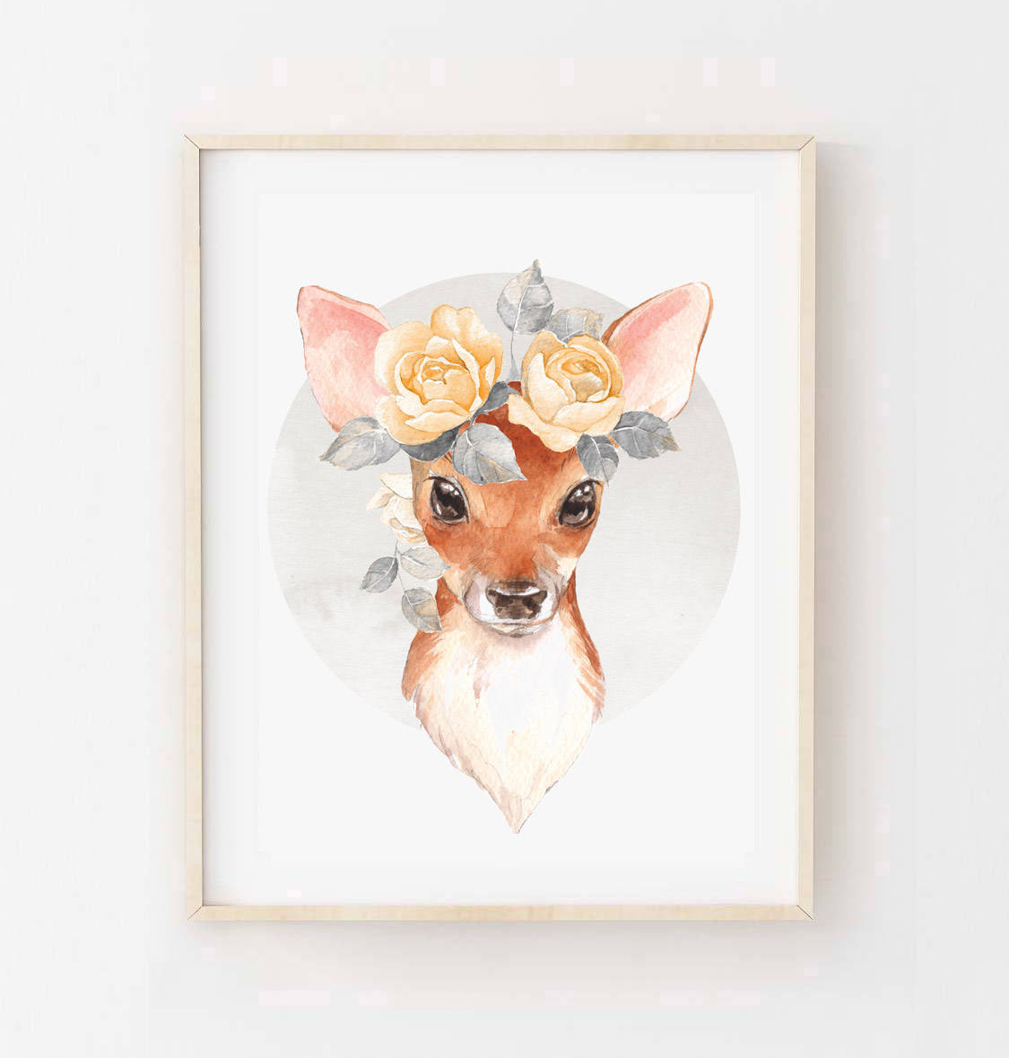 hip ink horray florence the fawn watercolour deer art