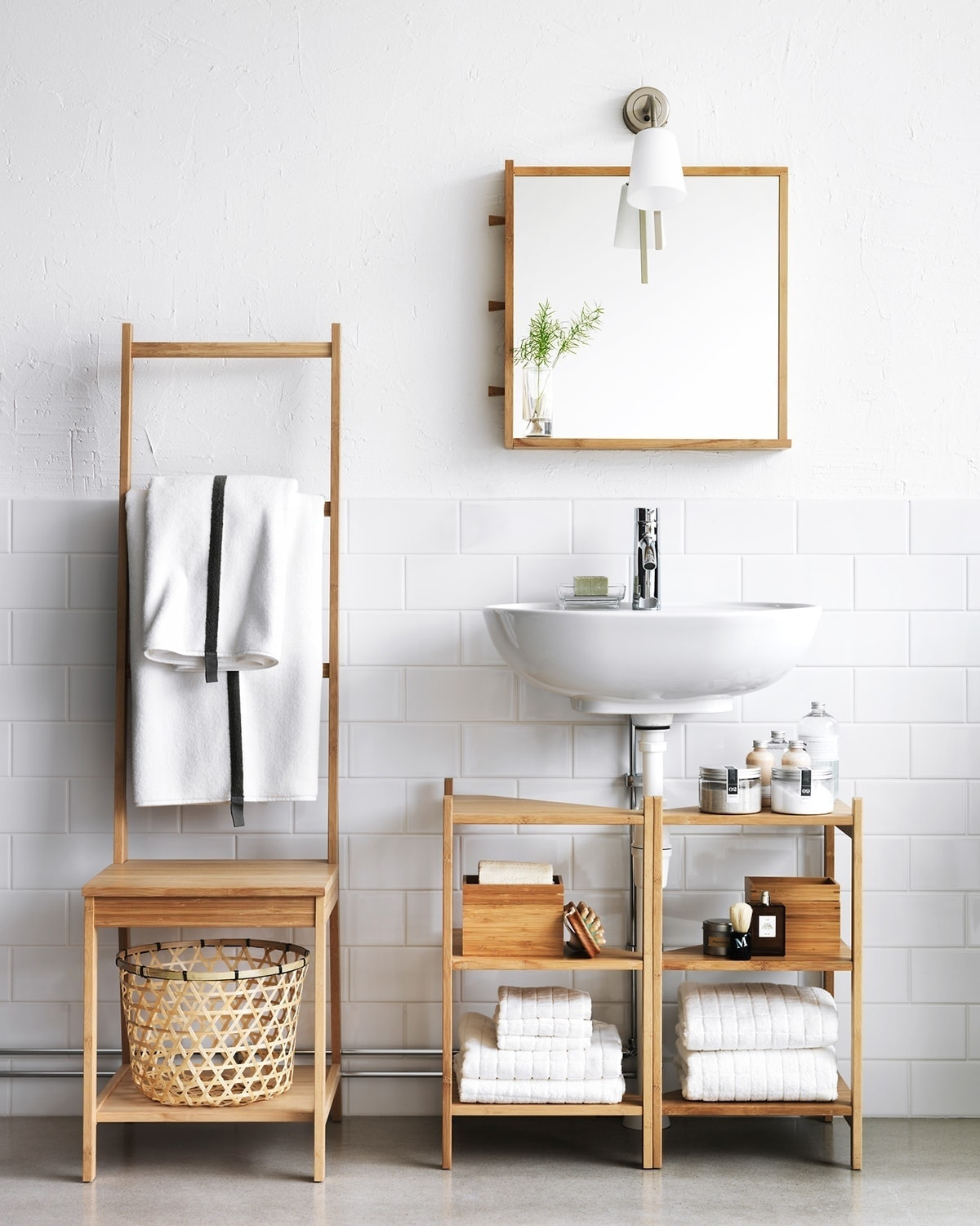 Ikea Small Bathroom Storage Ideas Bamboo Towel Rack