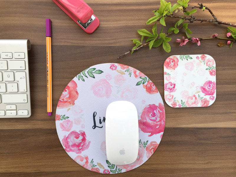 infigohome watercolour personalised mousepad