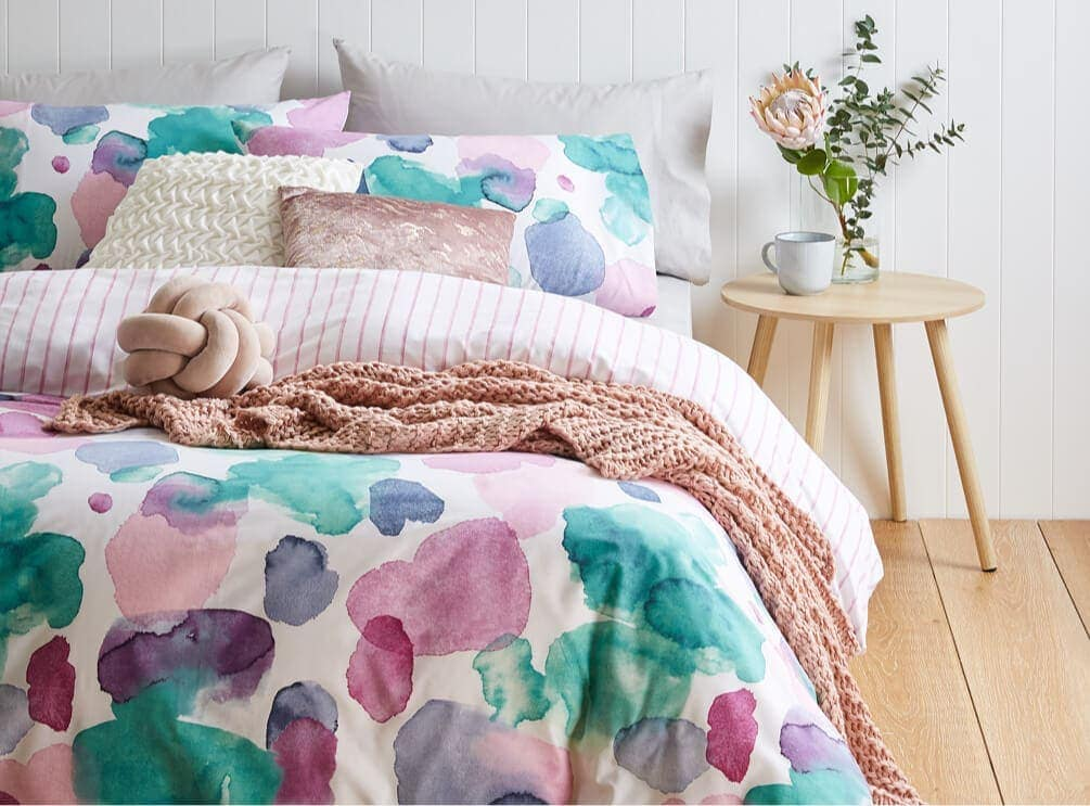 kmart watercolour quilt cover