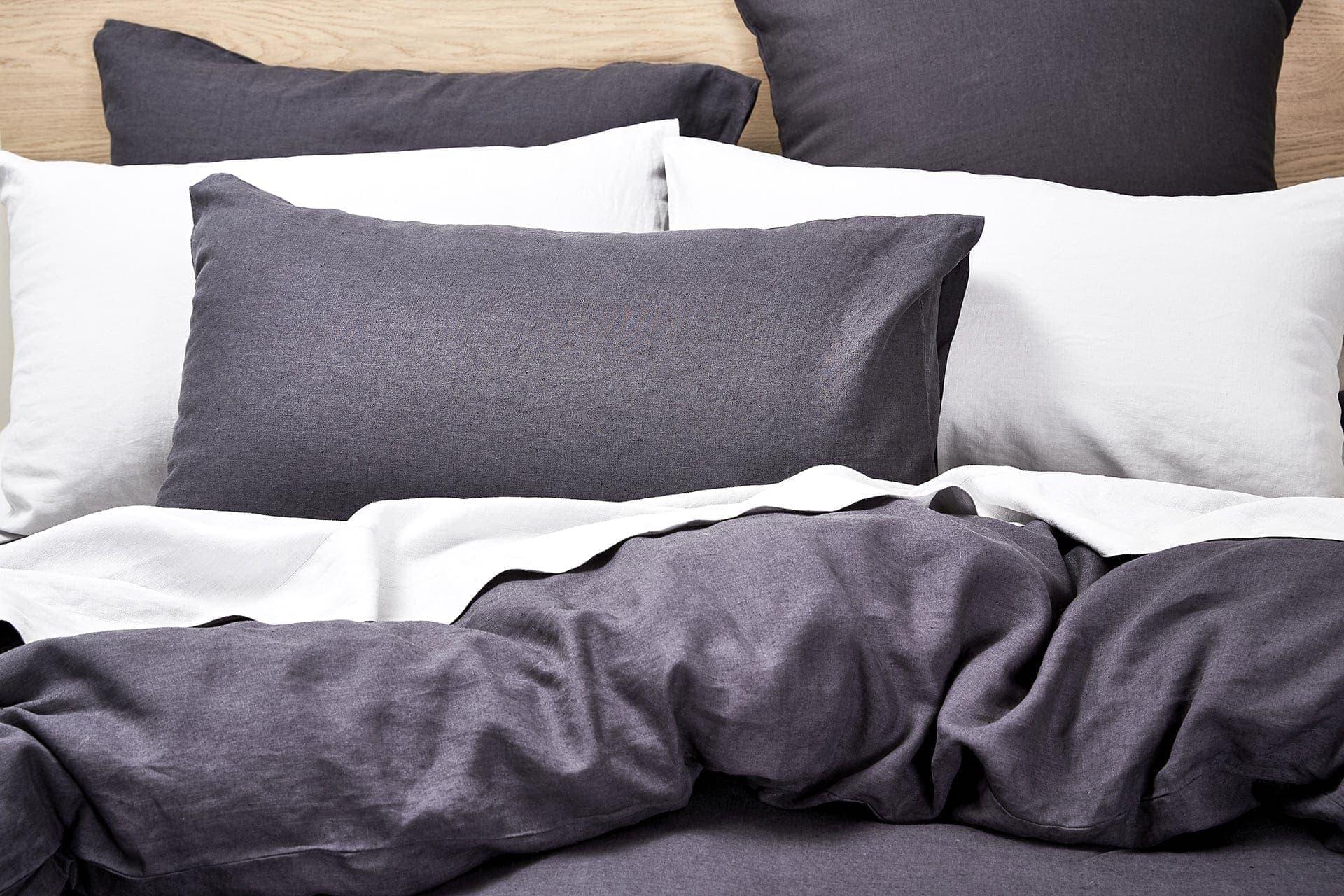 lorraine lea nook charcoal grey ben linen styling