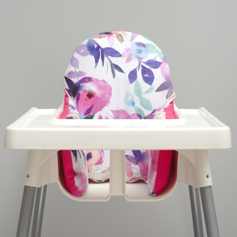 pear of stitches watercolour ikea high chair cover