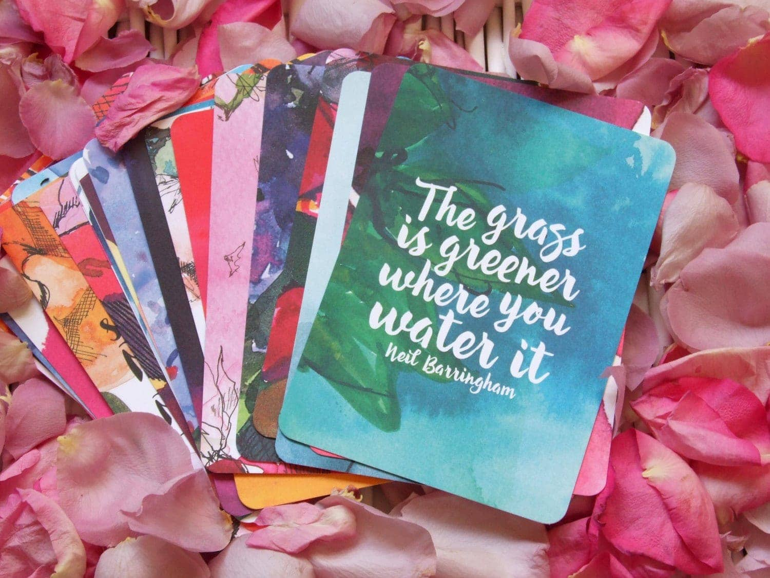real creative watercolour affirmation cards