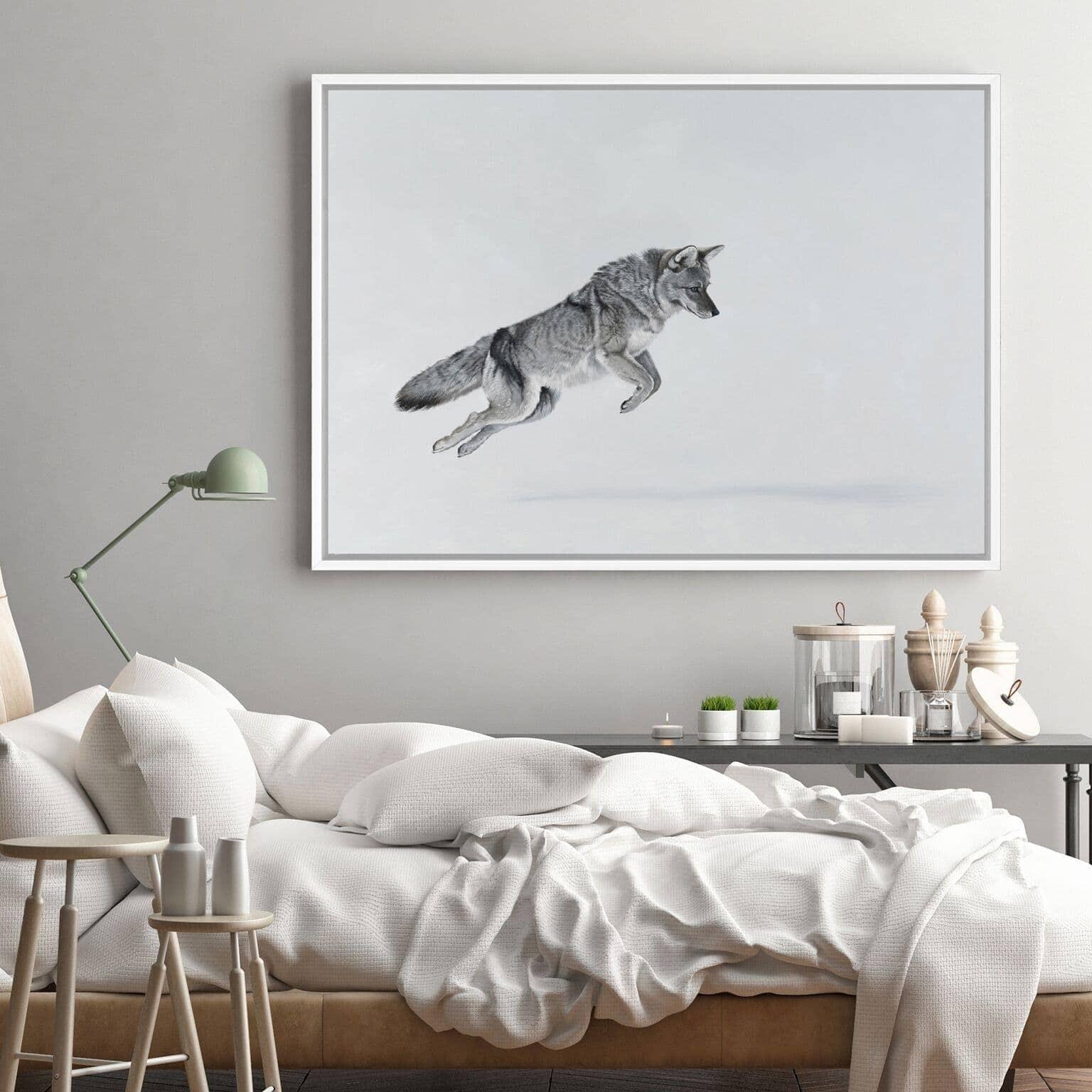 snow fox art scandinavian style art from the print emporium
