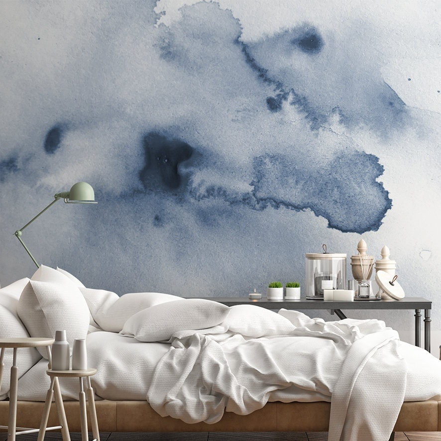soft blue watercolour wallpaper by nicematches