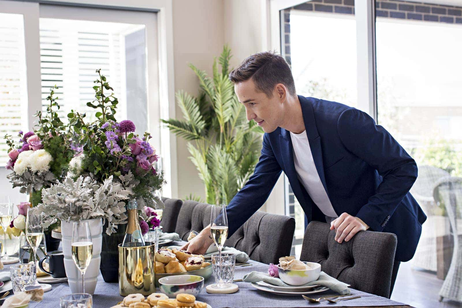 chris carroll from tlc interiors mothers day table styling