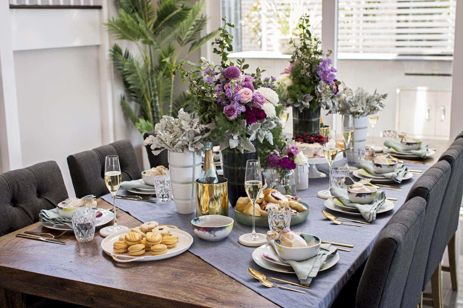 feminine table styling from metricon and salt and pepper
