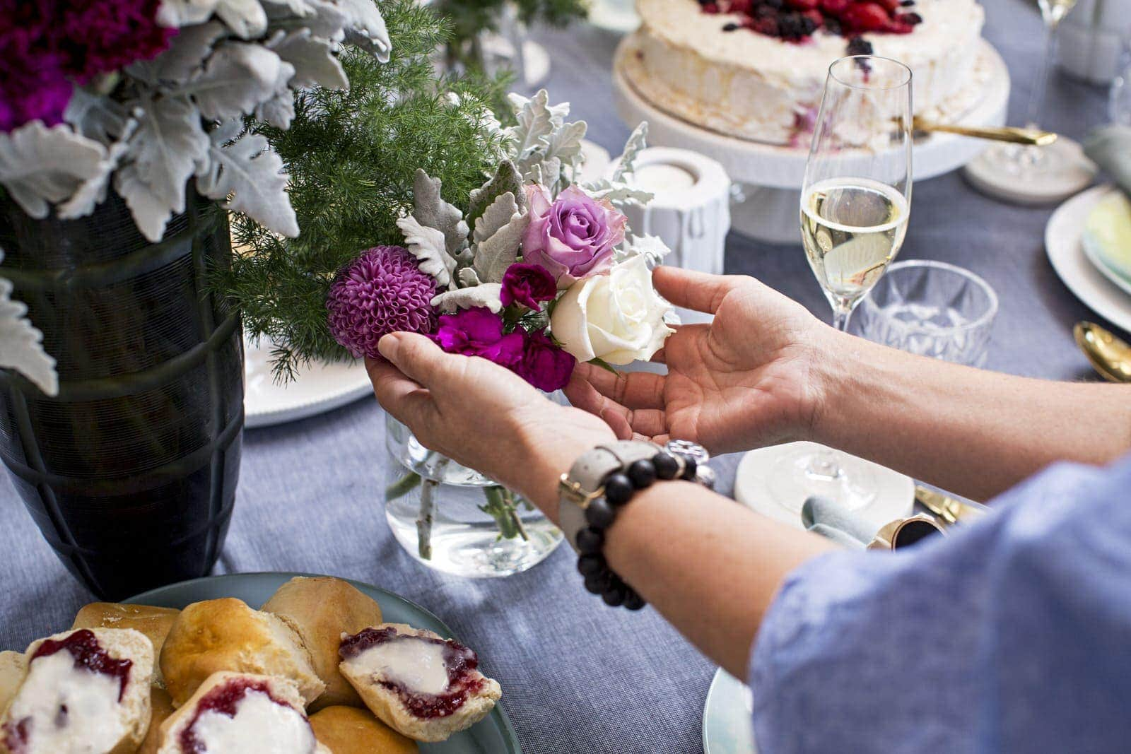 feminine table styling ideas insired by high tea