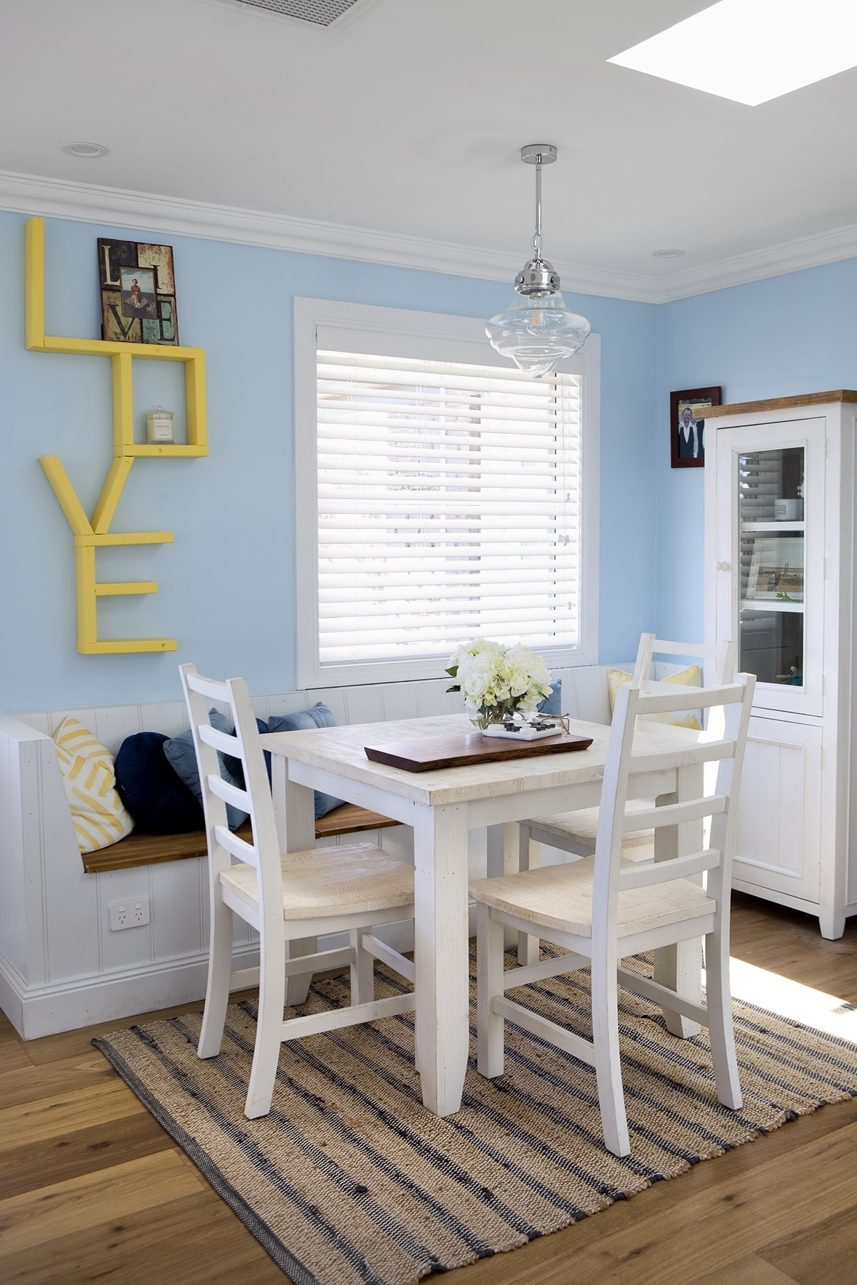 house rules 2018 mel and dave dining room with yellow love sign