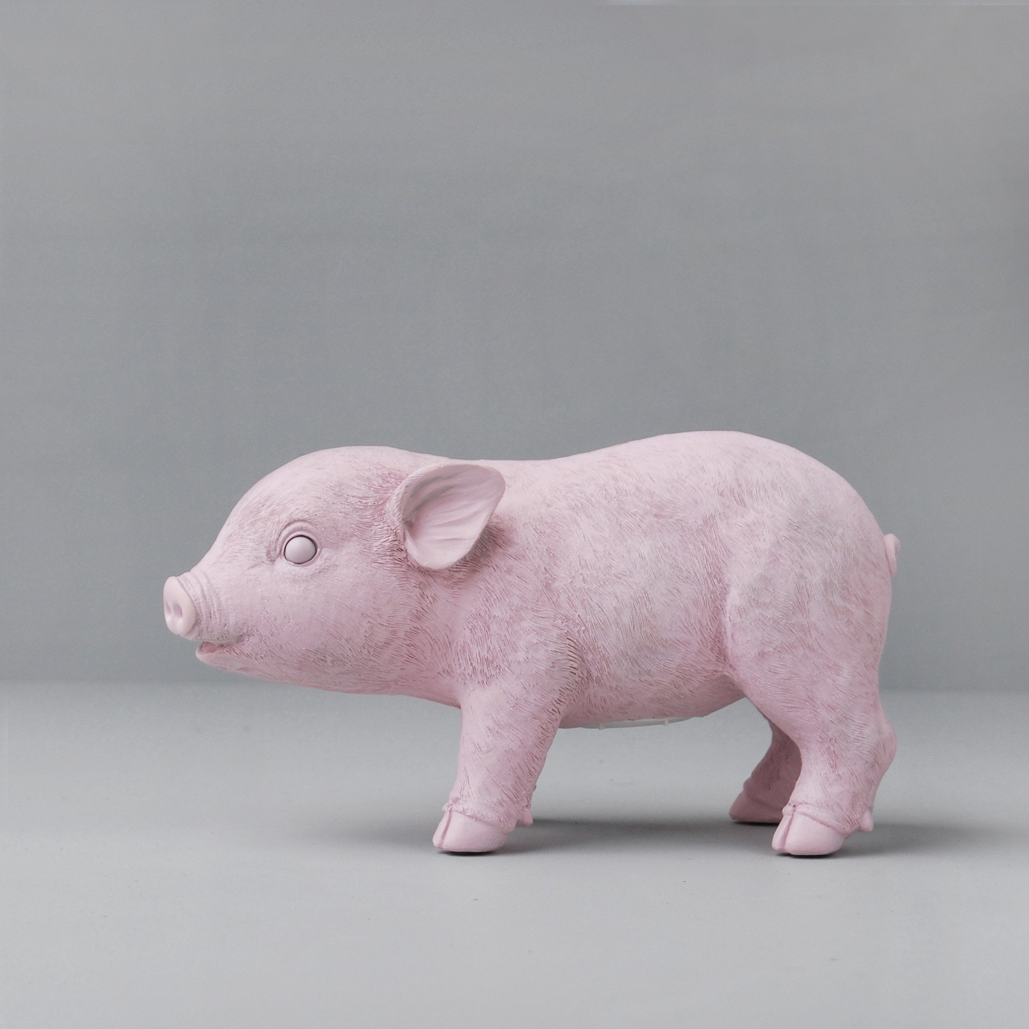 pink pig statue from white moose
