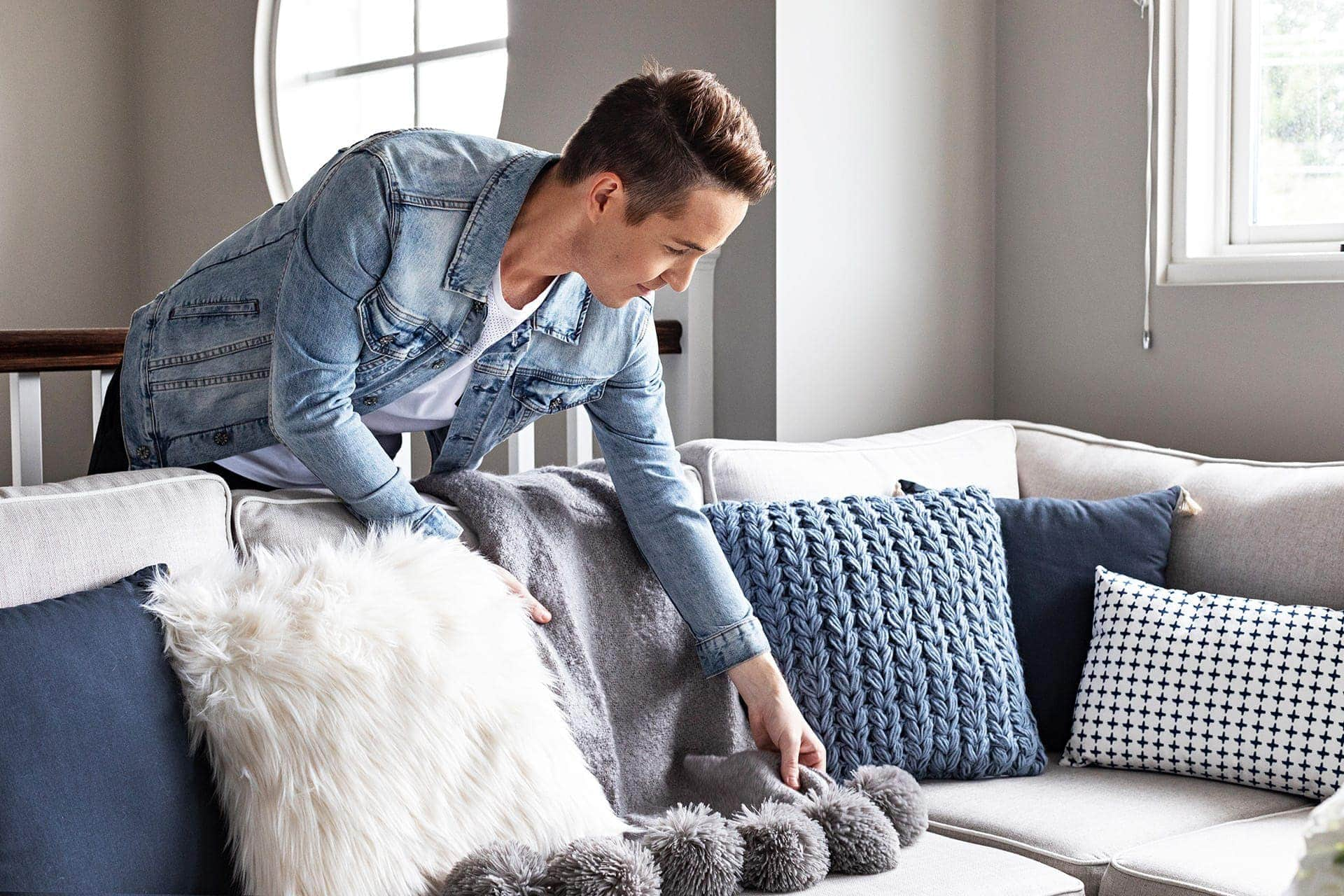 big w blue cushions on tlc interiors