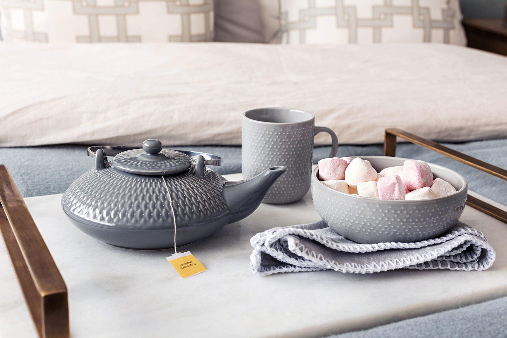 big w grey mug bowl and teapot